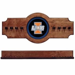 Illinois 2-Piece Cue Rack Pecan | Moneymachines.com