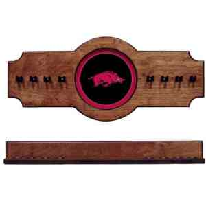 Arkansas 2-Piece Cue Rack Pecan | Moneymachines.com