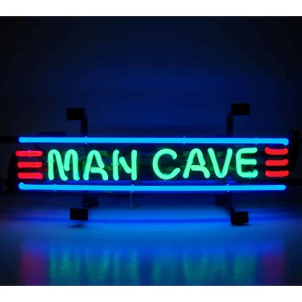 MANCAVE RED, GREEN AND BLUE NEON SIGN – 5MANCS | moneymachines.com