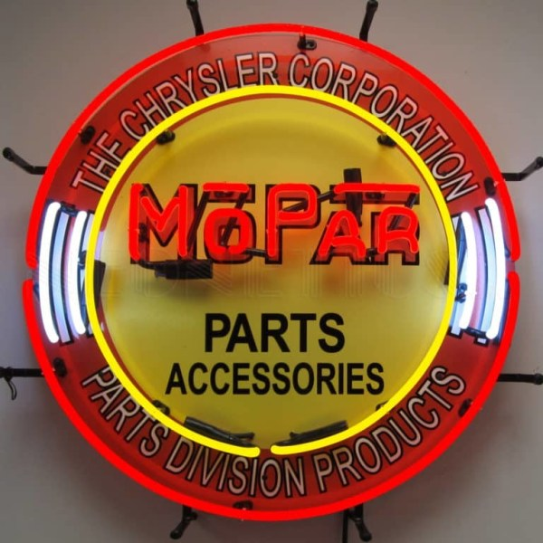 MOPAR CIRCLE WITH BACKING NEON SIGN – 5MPRCR | moneymachines.com