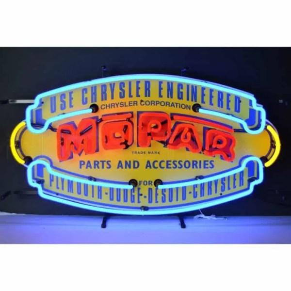 MOPAR VINTAGE SHIELD NEON SIGN – 5MPRVS | moneymachines.com