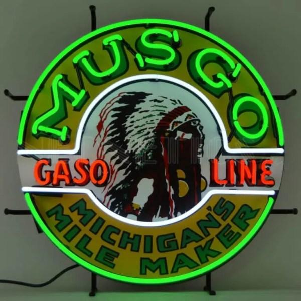 MUSGO GASOLINE NEON SIGN – 5GSMUS | moneymachines.com