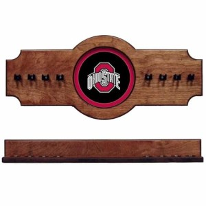 Ohio State 2-Piece Cue Rack Pecan | Moneymachines.com