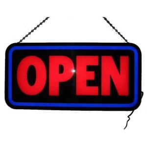 OPEN BOLD RECTANGLE LED SIGN – 5OPENB | moneymachines.com
