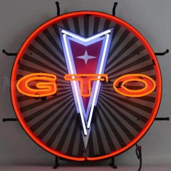 PONTIAC GTO NEON SIGN WITH BACKING – 5GTOBK | moneymachines.com