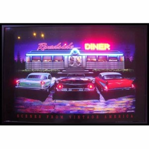 ROADSIDE DINER NEON/LED Picture – 3RSDNL | moneymachines.com