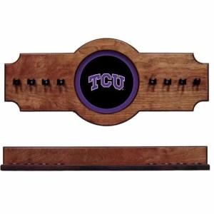 TCU 2-Piece Cue Rack Pecan | Moneymachines.com
