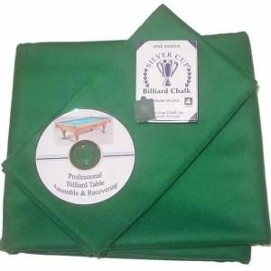 Billiard Cloth Re-felting Kit Proline Classic 303 Precut Dark Green Color   moneymachines.com