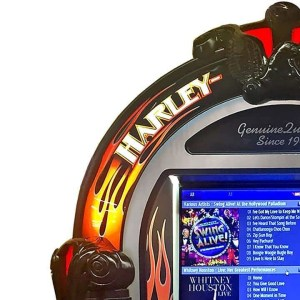 Harley Davidson Brushed Aluminum Jukebox | moneymachines.com