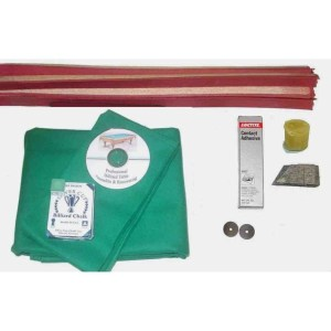 Proline Classic 303 Basic Green Pool Table Recovering and Refelting Kit | moneymachines.com