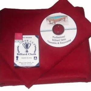 Proline Classic 303 Precut Burgundy Color Billiard Cloth Re-felting Kit   moneymachines.com