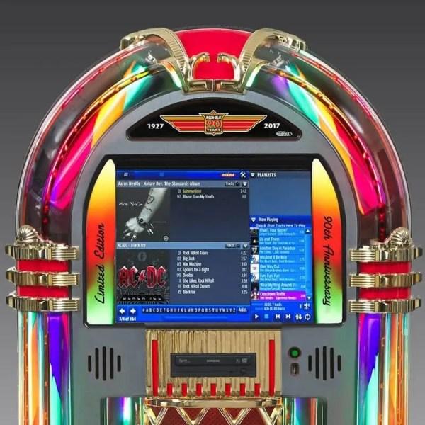 Rock-Ola Bubbler 90th Anniversary Music Center Jukebox Upper | moneymachines.com
