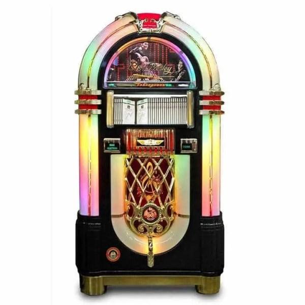 Rock-Ola Bubbler Elvis CD Jukebox in Black J-70421-A   moneymachines.com
