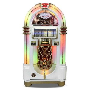 Rock-Ola Bubbler Elvis CD Jukebox in White J-70419-A | moneymachines.com