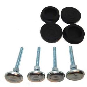 "3"" Leg Leveler Feet & Rubber Boot Castors for Pinball Machines   moneymachines.com"