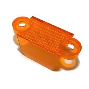 "1-1/4"" Translucent Orange Double Sided Pinball Machine Lane Apron Guide | moneymachines.com"