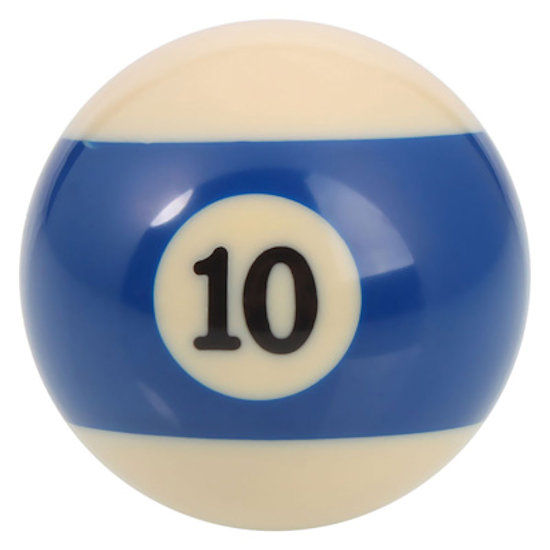 New Individual Number Ten (10) Billiard Pool Ball | moneymachines.com