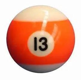 New Individual Number Thirteen (13) Billiard Pool Ball | moneymachines.com
