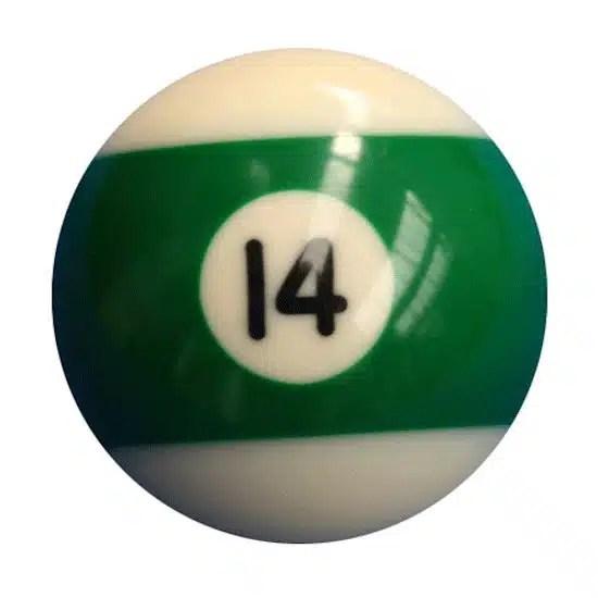 New Individual Number Fourteen (14) Billiard Pool Ball   moneymachines.com