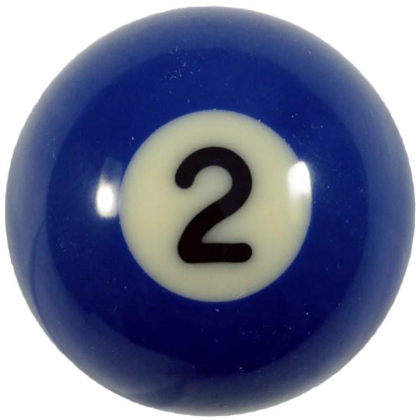 Individual Number Two (2) Billiard Pool Ball | moneymachines.com