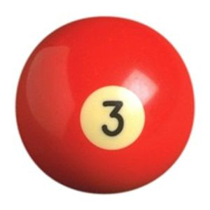 Number Three (3) Billiard Pool Ball | moneymachines.com