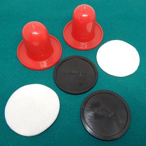 Small 2 3/4 Inch Lightweight Table Top Hockey Goalie Mallets And Puck Set | moneymachines.com