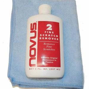 Novus 2 Plastic Scratch Remover, Polish and Cloth | moneymachines.com