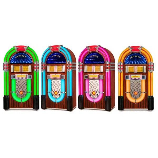Crosley CR1215A-WA Jukebox LED Changing Color Lights | moneymachines.com
