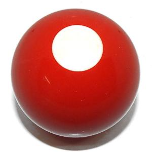 Red With White Spot Bumper Pool Ball | moneymachines.com