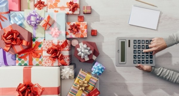 Christmas presents and a calculator