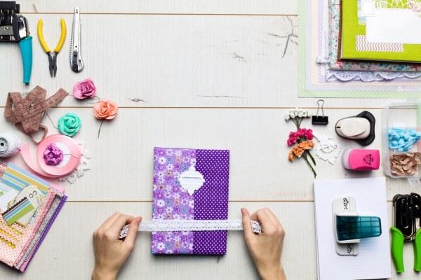 Creating purple scrap-book