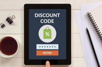 Discount code on tablet