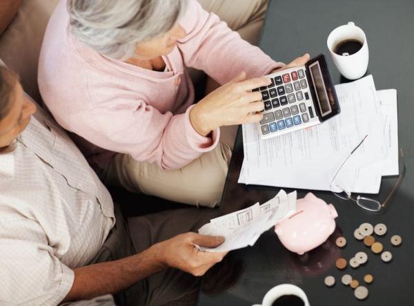 Filling form, tax, budget, pension