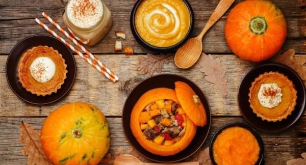 Pumpkin flavour foods for Halloween