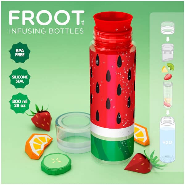 Froot Infusion Water Bottle - Watermelon Design