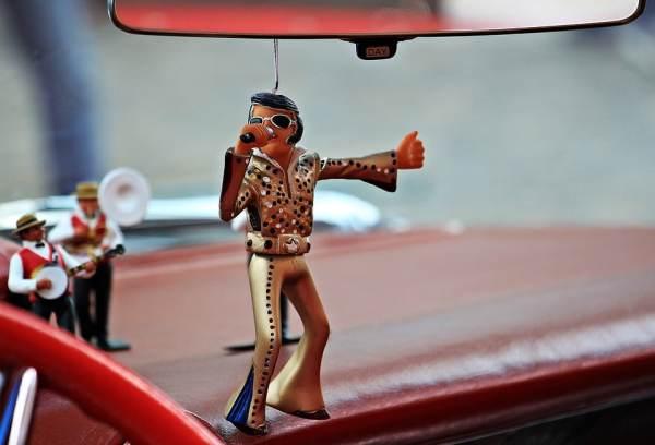 Elvis car figurine