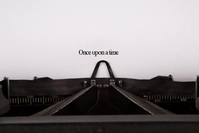 Once upon a time typed on a typewriter