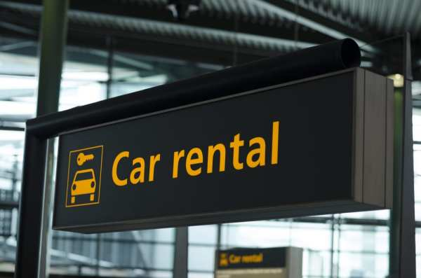 Car Rental sign at the airport