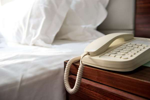 Phone in hotel room