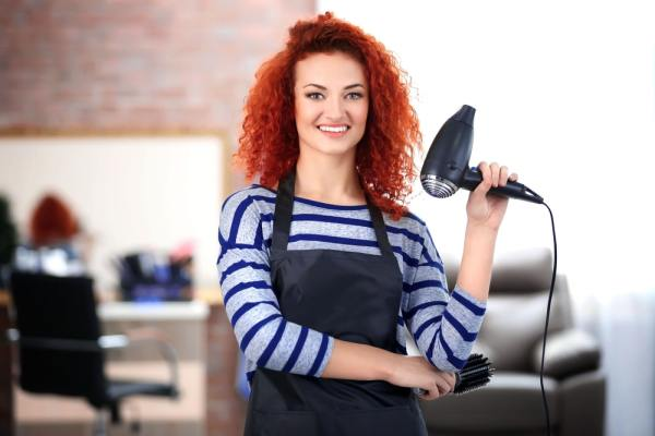 Young female hairdresser