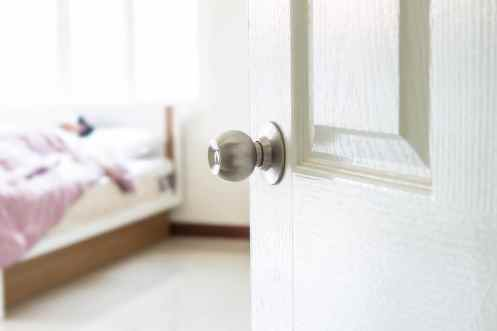 Bedroom door ajar