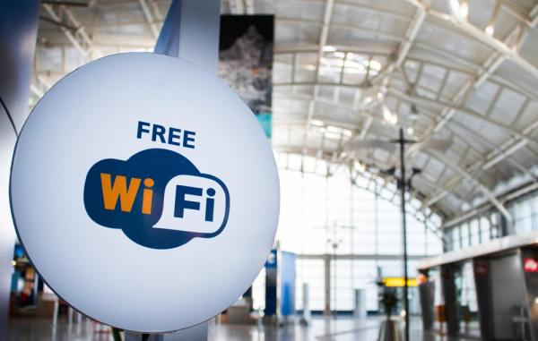 Free wifi sign in airport