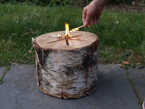 Light-n-go bonfire log