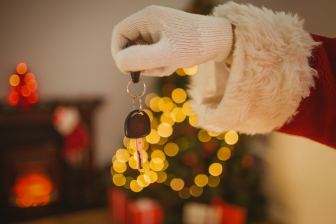 moneymagpie_santa-father-christmas-holding-car-key-present-gift