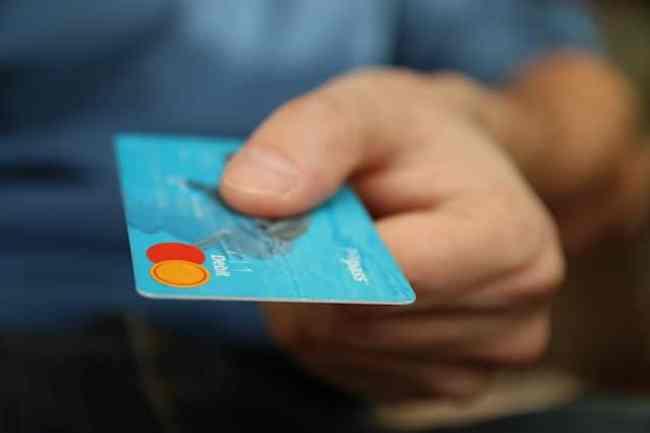 Someone using a debit card