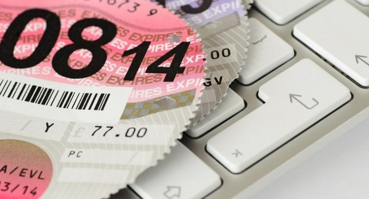 Expired car tax disc