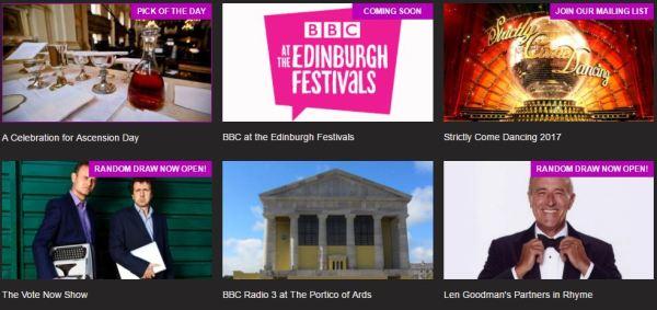 Free BBC show tickets