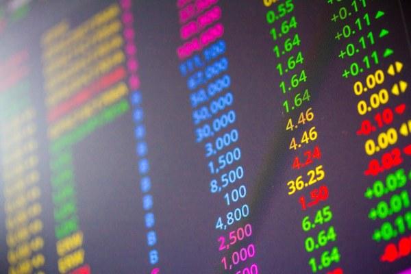 Digital Stock exchange chart