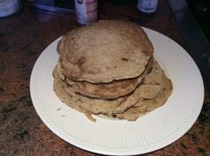 Stack of brainy pancakes