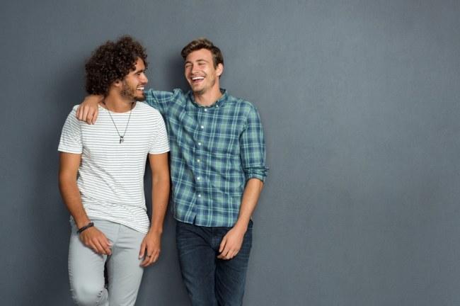 Two male friends